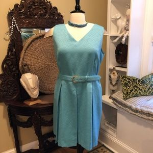 Tahari ASL - 20W Turquoise Blue Dress